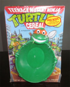 ninja turtles cereal bowl